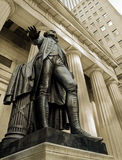 George Washington. Statue of George Washington at the entrance of the Federal Hall Royalty Free Stock Photography