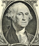 George Washington. As depicted on US one dollar bill Stock Photos