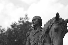 George Washington. Oon Horseback Stock Photo