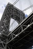 George Washington Bridge. From the ground in upper Riverside Park royalty free stock photography