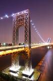 George Washington Bridge. The George Washington Bridge spanning the Hudson River at twilight in New York City Royalty Free Stock Photo
