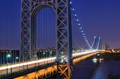 George Washington Bridge. The George Washington Bridge spanning the Hudson River at twilight in New York City Royalty Free Stock Photos