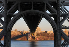 George Washington Bridge from below Royalty Free Stock Photo