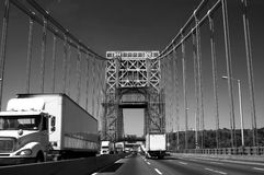 George Washington Bridge in Black and White Stock Photography
