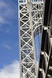 George Washington Bridge c. Suspension tower of George Washington bridge Royalty Free Stock Images