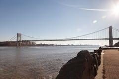 George Washington Bridge da Lee Historic Park forte Fotografie Stock Libere da Diritti