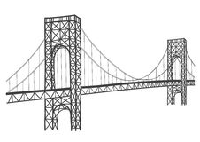 George washington bridge drawing Stock Photo