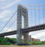 George Washington Bridge. Fragment of the George Washington Bridge at sunny day Royalty Free Stock Photos