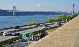 The George Washington Bridge (GWB) linking New Jersey and New York Stock Image