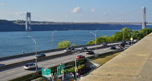 The George Washington Bridge (GWB) linking New Jersey and New York Royalty Free Stock Image