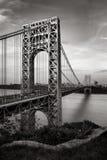 George Washington Bridge and Hudson River at Sunset stock image