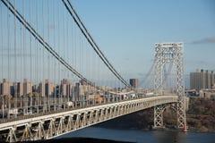 George Washington Bridge i dagsljus Royaltyfri Bild