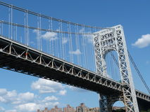 George Washington Bridge. An iconic double decked suspension bridge from new jersey to new York Stock Images