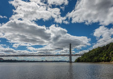 George Washington Bridge and Manhattan cityscape Stock Photography
