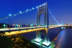 George Washington Bridge in New York. The George Washington Bridge spans the Hudson River from Fort Lee, New Jersey to the Washington Heights neighborhood in the Stock Photography