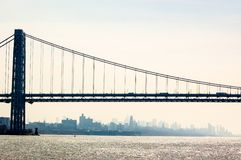 George Washington Bridge in New York Royalty Free Stock Image