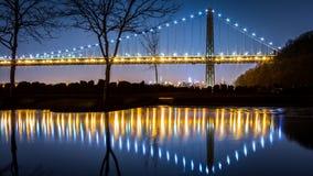 George Washington Bridge by night royalty free stock photography