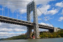 George Washington Bridge NYC Fotografering för Bildbyråer
