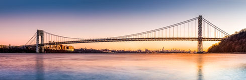 George Washington Bridge panorama royalty free stock photo