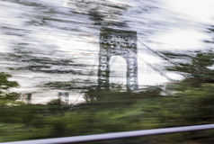George Washington Bridge from ramp Stock Photos