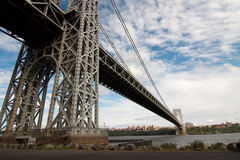 George Washington bridge span Stock Image