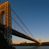 George Washington Bridge at sunrise. Stock Photography