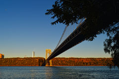 George Washington Bridge at sunrise. Stock Photos