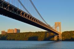 George Washington Bridge at sunrise. Stock Image