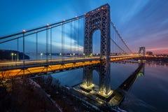 George Washington Bridge sunrise stock images