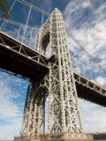 George Washington bridge support Stock Image