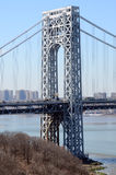 George Washington Bridge - East Tower Royalty Free Stock Images