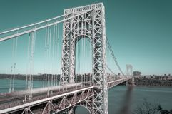 George Washington Bridge. George Washington Bridge taken with long exposure Royalty Free Stock Image