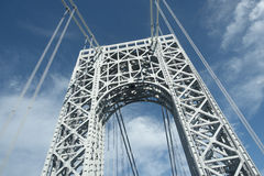 George Washington Bridge-toren van weg wordt bekeken die Royalty-vrije Stock Afbeelding