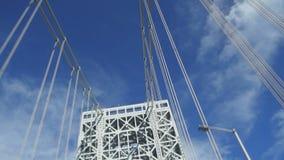 George Washington Bridge tower viewed from road stock video