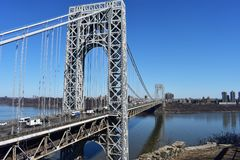 George Washington Bridge View from Fort Lee royalty free stock images