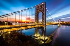 George Washington bro på soluppgången Royaltyfria Bilder