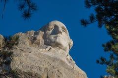 George Washington carving at Mount Rushmore. Carving of George Washington at Mount Rushmore near Rapid City, South Dakota Royalty Free Stock Photo