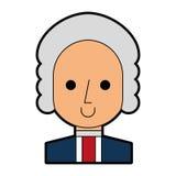 George Washington character comic Stock Photo