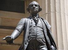George Washington chez Hall fédéral Image libre de droits