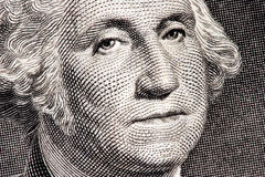 George Washington close up Stock Photography