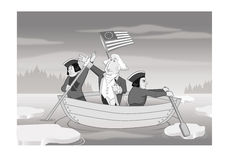 George Washington crossing the Delaware River Stock Images