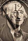 George Washington dagli Stati Uniti un dollaro Immagine Stock