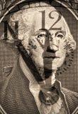 George Washington de los E.E.U.U. un dólar Imagen de archivo