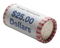 George washington dollar coins 3 stock photography
