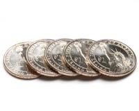 George washington dollar coins 5 royalty free stock image
