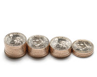 George Washington dollarmuntstukken 10 Stock Foto's
