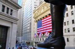 George Washington door Effectenbeurs Stock Afbeelding
