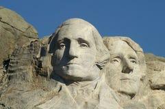 George Washington e Thomas Jefferson Foto de Stock