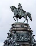 George Washington an einem regnerischen Tag in Philadelphia lizenzfreie stockbilder