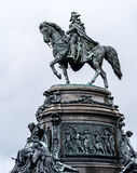 George Washington em um dia chuvoso em Philadelphfia Imagens de Stock Royalty Free